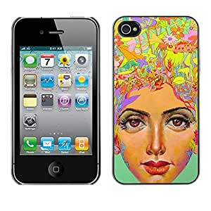 Be Good Phone Accessory // Dura Cáscara cubierta Protectora Caso Carcasa Funda de Protección para Apple Iphone 4 / 4S // thinking a lot