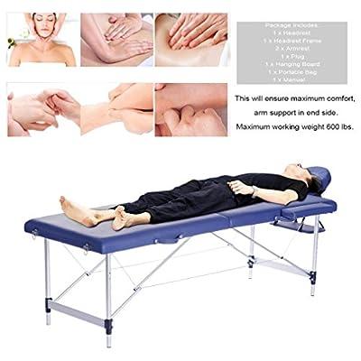 Water-chestnut Portable Folding Massage Table 2 Fold Aluminum Alloy Frame