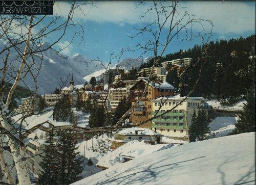 Whitman 1000 Piece Puzzle - Arosa, Switzerland - Alpine Mountain Winter Scene