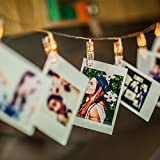 Amazlab LED Photo Clip String Lights, Perfect for Hanging Pictures, Notes, Artwork, 4,5 Meter/15 Feet, Warm White