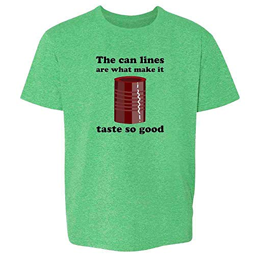 Pop Threads Cranberry Sauce Can Lines Funny Thanksgiving Heather Irish Green 2T Toddler Kids T-Shirt
