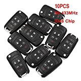 HERCHR, Remote Key, 433MHz 10PCS X 5B Remote Control Key Fob with ID46 Chip for Chevrolet 2010-2014 Cruze