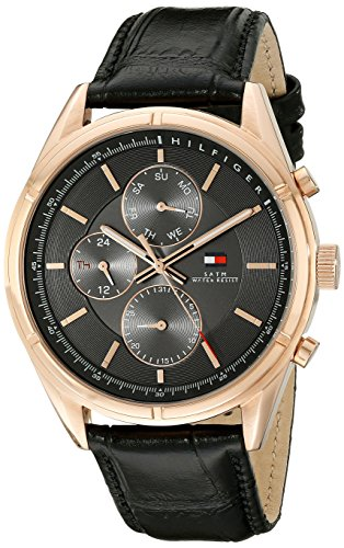 Tommy Hilfiger Men's 1791125 Sport Lux Analog Display Quartz Black Watch