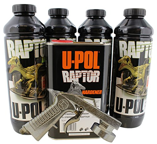U-Pol 0820V-Gun Black Urethane Truck Bed Liner Kit with 726 Gun (Best Truck Bed Liner Kit)