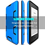 Kindle Paperwhite Case, Elegant Choise Dual Layer Anti-Scratch Shockproof Armor Defender Full-body Protective Case Cover for Amazon Kindle Paperwhite (Blue/Black)
