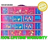 Shopkins Compatible Organizer - MyShoppin Bin Is The Perfect Shopkins Compatible Storage Box-Fits Up To 200 Characters,Up To 50 Shopping Bags and Baskets-Sturdy Case And Carrying Handle- (Strawberry/ Pink)
