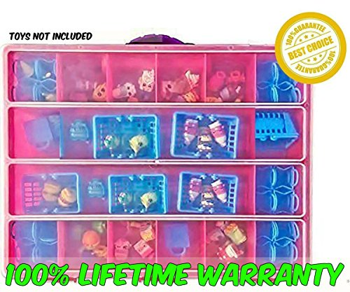 Shopkins Compatible Organizer - MyShoppin Bin Is The Perfect Shopkins Compatible Storage Box-Fits Up To 200 Characters,Up To 50 Shopping Bags and Baskets-Sturdy Case And Carrying Handle- (Strawberry/ (Golden Globe Costume)