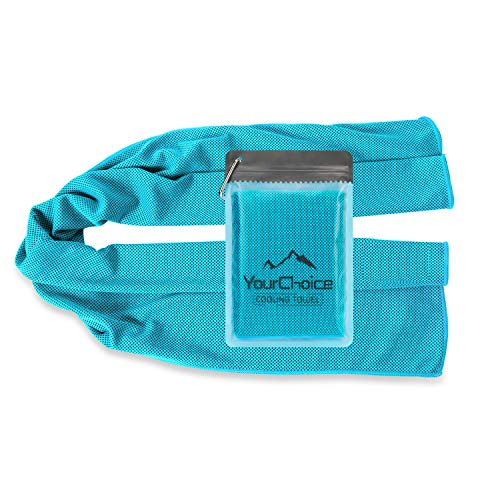 Cooling Towel, Cooling Neck Bandanas, Chill Towels Snap Cool Towel for Gym Golf Sports in Hot Summer, Turquoise 12 x 40 Inch