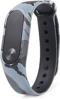 XU-XIAZHI,Bracelet à Motif Camouflage pour Xiaomi Mi Band 2(Color:Vert)