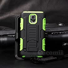 Galaxy S5 Active Case, Cocomii Robot Armor NEW [Heavy Duty] Premium Belt Clip Holster Kickstand Shockproof Hard Bumper Shell [Military Defender] Full Body Dual Layer Rugged Cover Samsung G870 (Green)