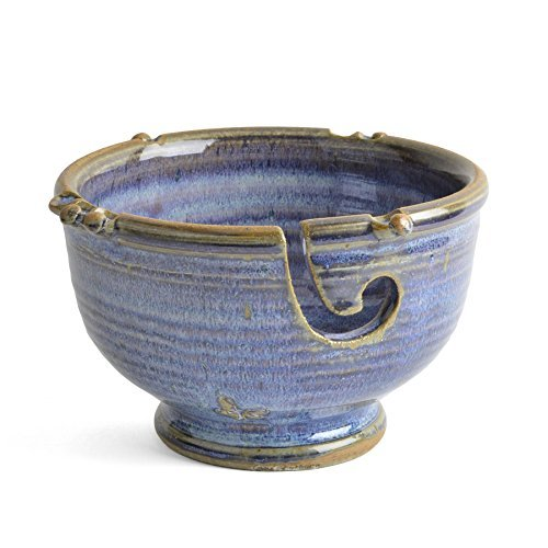 Anthony Stoneware Handmade Yarn Bowl, French Blue by Anthony Stoneware