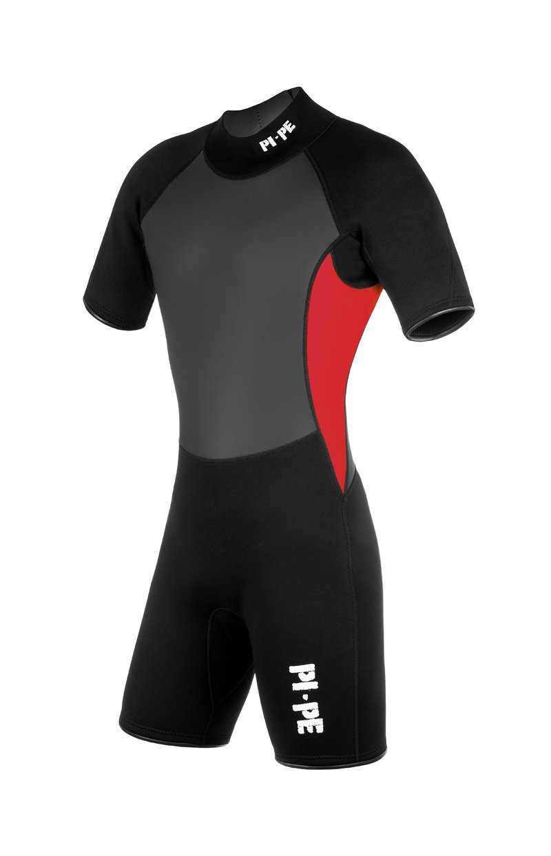 【送料無料/即納】  pi-pe 3 Pro II Spring S/S Men mm 's Shorty Shorty Wetsuit – 3 mm Sharkskin W Extra Pads – ショートスリーブウェットスーツマリンスポーツ、シュノーケリング、ダイビング、サーフィン – スーパーストレッチ快適 – グリーン、ホワイト、ブルー、ブラック B00PNR479U XX-Large レッド レッド XX-Large, 引越資材プロショップ:c1d9cfda --- beyonddefeat.com