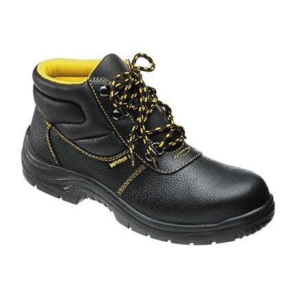 Wolfpack 15018045 Botas de Seguridad de Piel, Talla 45, Color Negro