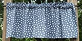 Cheap White Polka Dots on Gray White & Gray Handcrafted Grey Curtain Valance
