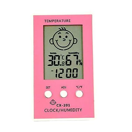 Szaerfa termómetro digital higrómetro interior LCD pantalla termómetro de la habitación higrómetro humedad para el dormitorio