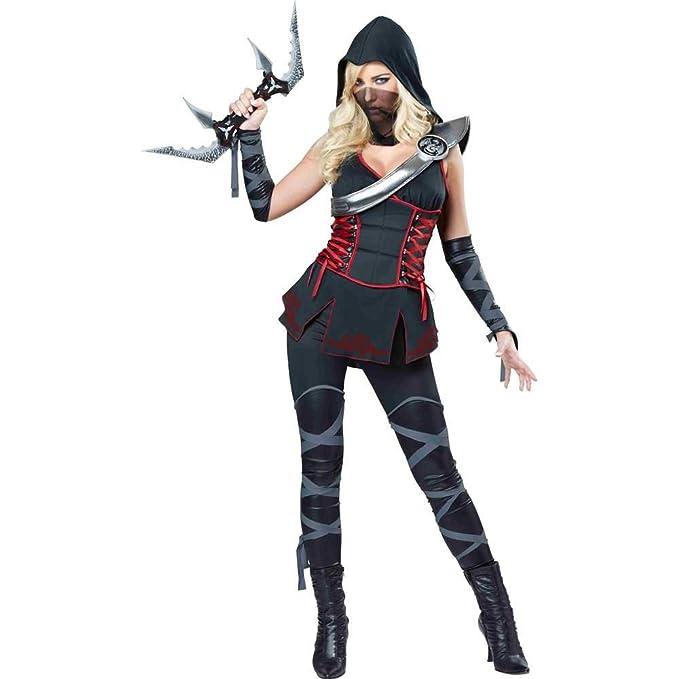 Disfraz de Ninja para adulto, color negro: Amazon.es ...