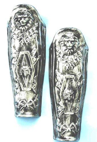 UPC 721773586347, Forum Roman Lion Costume Leg Armor, Silver, One Size