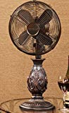 23'' French Style Fleur-de-Lis Accent Oscillating Table Top Fan