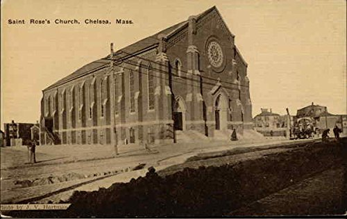 - Saint Rose's Church Chelsea, Massachusetts Original Vintage Postcard