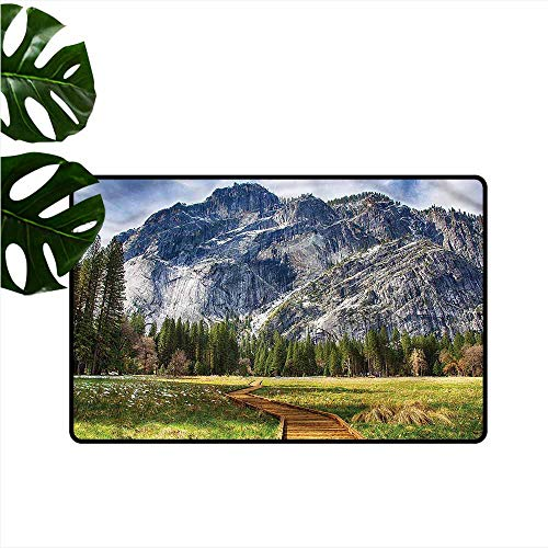 - DONEECKL Waterproof Door mat Yosemite North Dome Valley Park Anti-Fading W24 xL35