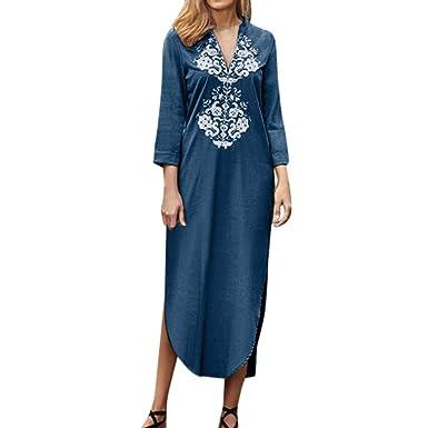 Beikoard Femme Longues Robe Manches Longue Robes pLSzMqVGUj