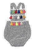 Viworld Baby Girl Summer Clothes Newborn Baby Sleeveless Bodysuit Infant Baby Polka Dot Romper Backless Jumpsuit Outfit (Polka Dot, 80(6-12 Months))