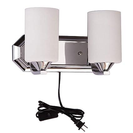 2 Head Plug In Wall Lamp Bedside Lamp Bedroom Living Room