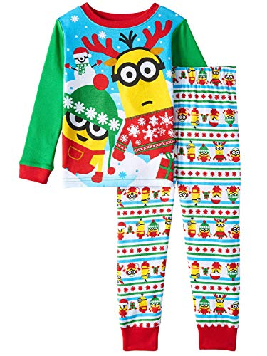 Despicable Me Toddler Little Boys' Christmas Holiday 2-Piece Pajama Set (2T)