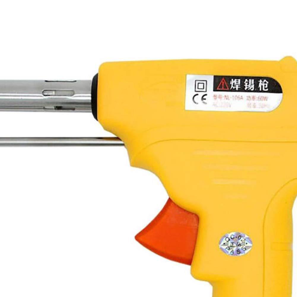 Wecando NL - 110V/106A Manual Soldering Gun 60W One-Hand Lead Universal Soldering Gun Kit (Yellow) by Wecando (Image #6)