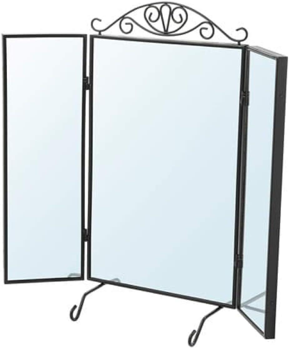 IKEA 202.949.83 Karmsund - Espejo de mesa, color negro: Amazon.es: Hogar
