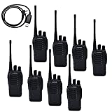 BaoFeng BF-888S 5W 400-470MHz 16-CH Handheld Walkie Talkies Black(Pack of 8)