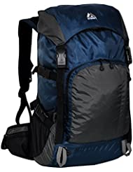 Everest Weekender Hiking Pack, Navy/Gray, One Size