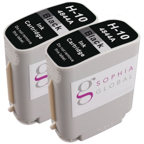 Sophia Global Compatible Ink Cartridge Replacement for HP 10 (2 Black)