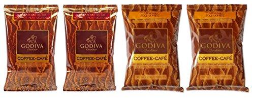 lavored Coffee 2 Flavor Variety Sampler Bundle: (2) Godiva Breakfast Blend, and (2) Godiva Caramel Coffee, 2 Oz. Ea (Godiva Hazelnut Truffles)