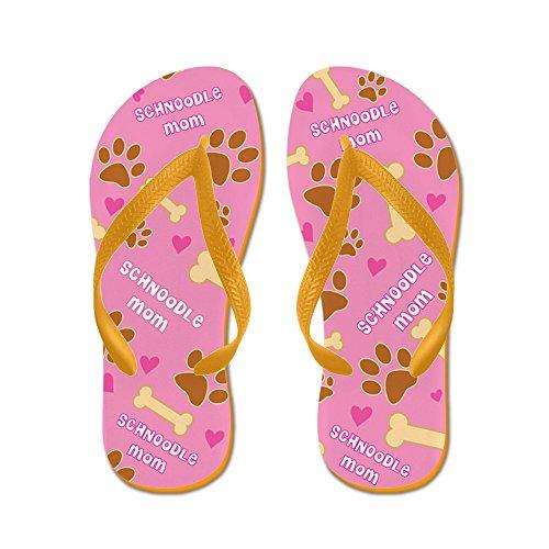 CafePress Schnoodle Mom Gift Flip Flops - Flip Flops, Funny Thong Sandals, Beach Sandals Orange