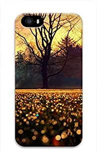 iPhone 4 4S Case, iCustomonline Bokeh Flowers Protective Back 3D Case Cover Skin for iPhone 4 4S