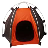 Loghot Portable Folding Pet House Tent for Small Medium Dogs Cats Bed Tent Indoor Outdoor (Orange/Coffee, 27.6×23.6×21.7 Inches) Review