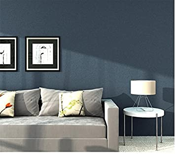 Xzzj Simple Plain Seidentapeten Farbe Tv Hintergrund Tapete Blau ...