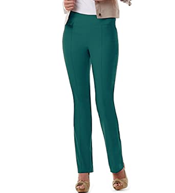 5353530df41 URREBEL Pants for Womens-simon Chang Pull-on Straight Leg Pants(style 6234r)  at Amazon Women s Clothing store