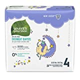 Seventh Generation Baby Size 4 Overnight Diapers 24 Count