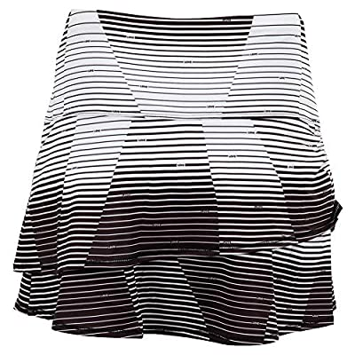 Lucky In Love Future Retro Long Love Line Skirt 14 inch Skirt - Black: Clothing