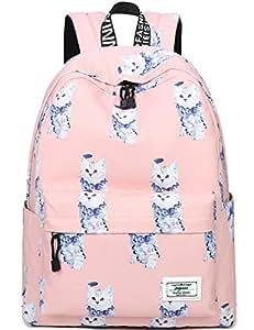 09ddcac38 Bookbags for Teens, Cute Animal Cat/Kitty Laptop Backpack School Bags  Travel Daypack Handbag