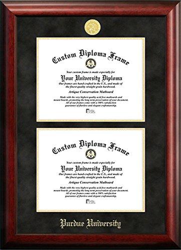 Purdue University Double Degree Diploma Frame (7.5 X 9.5)