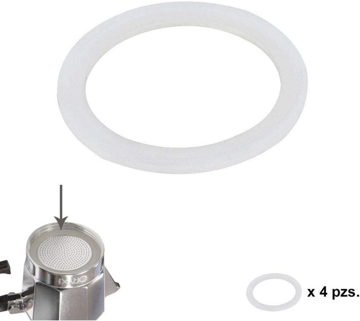 ORYX 5056104 Junta Goma Silicona Cafetera Aluminio Classic/Inducción 12 Tazas (4 Unidades): Amazon.es: Hogar