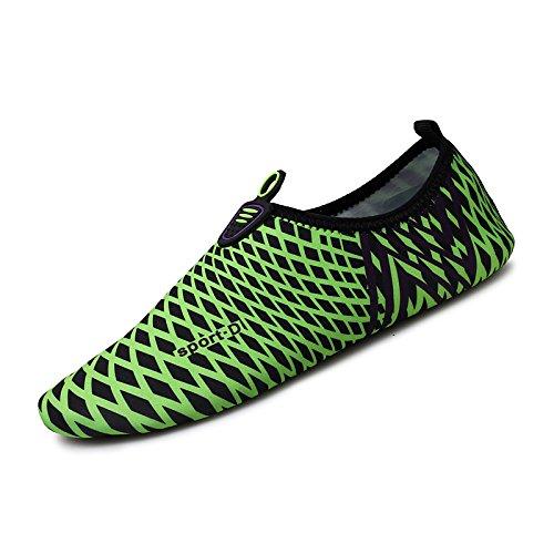 Lucdespo de Running yoga parejas piel zapatos natación SK niño deportes para Secado el fitness la calzados rápido padre 4 verde descalzos cuidado de de negro suaves FqRwFnr1T