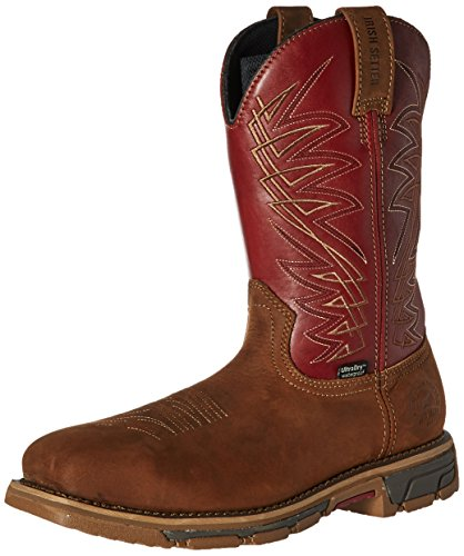 Irish Setter Work Men's 83916 Marshall 11 Inch Pull-on Steel Toe Boot, Brown/Red, 8 D US