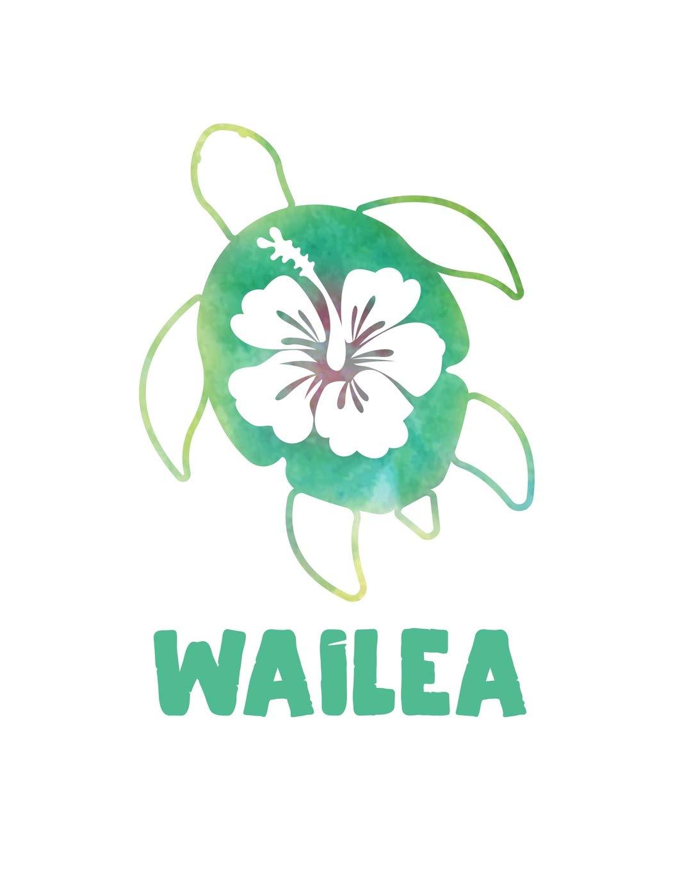 Wailea Maui Hawaii Notebook With Lined College Ruled Paper