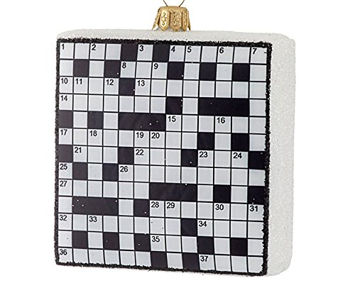 - Crossword Puzzle Christmas Ornament