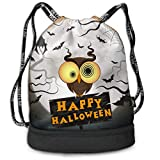 Best b.m.c Shoulder Bags - Sport Drawstring Backpack Sport Gym Bag Beatybag,Crazy Halloween Review