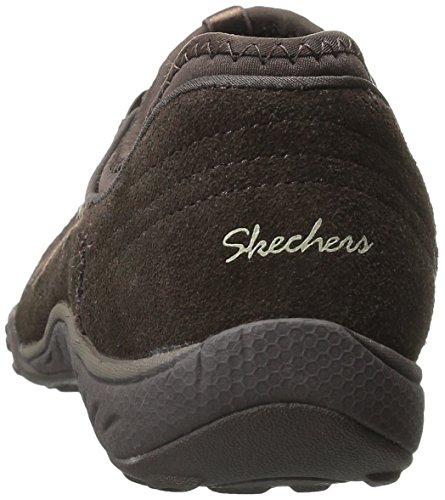 skechers BREATHE-EASY - BIG BUCKS - Zapatillas de deporte para mujer Chocolate